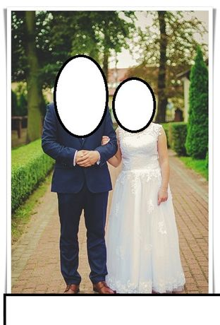 suknia ślubna dla nidkiej osoby.