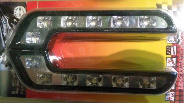 Światła do Jazdy Dziennej 6x2 Ledowe Lampy E4 Samochodu Auta lampy prz