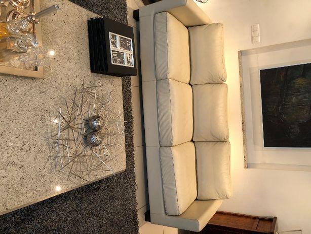 kanapa skórzana i 2 fotele