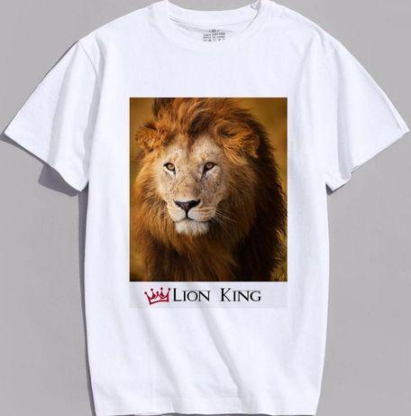 Парные футболки «Лев и львица»