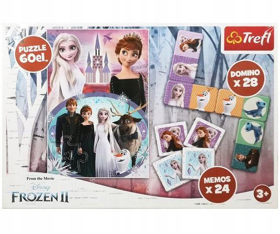 Kraina Lodu Frozen 2: Memo Domino + Puzzle - nowe zafoliowane