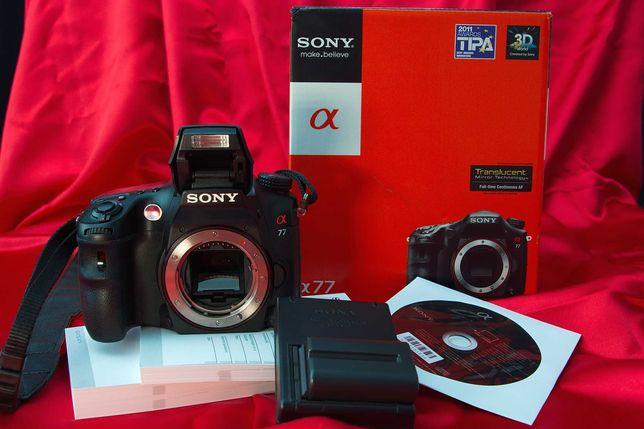 Sony Alpha SLT-A77 - 24.3Mp Qualidade profissional