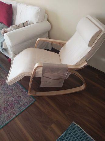 Fotel bujany z podnozkiem