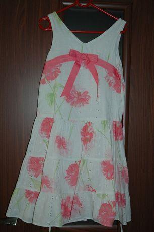 haftowana sukienka na lato 6 lat