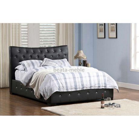 Stylowe tapicerowane łóżko Carlos z materacem 140x200 cm od producenta