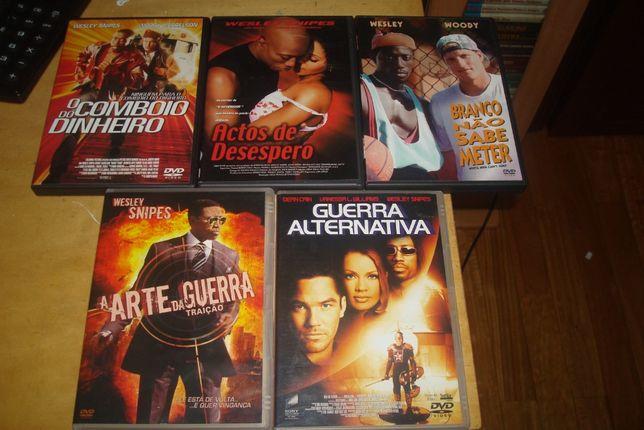 9 dvds originais com wesley snipes alguns raros