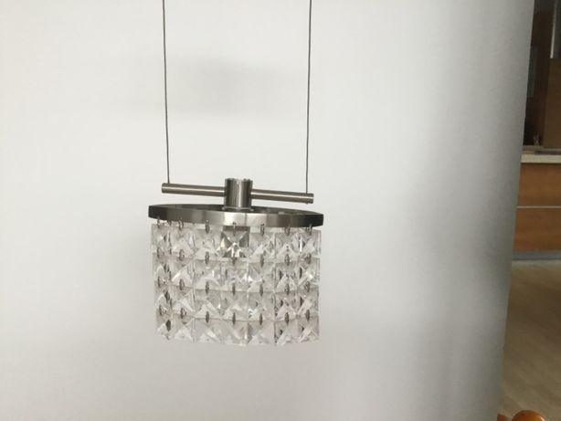 Lampa z wiszącymi szklanymi koralikami + kinkiet