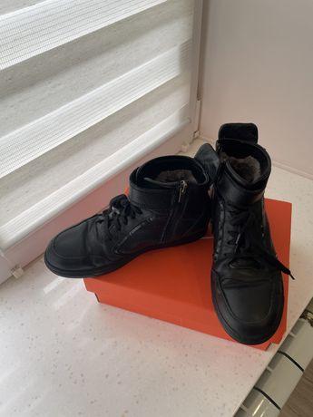 Зимние детские ботинки Kemal Pafi из натуральной кожи на цигейке
