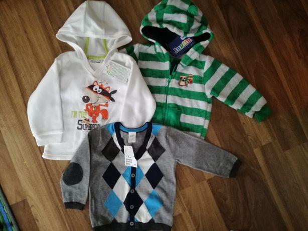 Ciepłe bluzy dziecięce sweterek h&m r 86