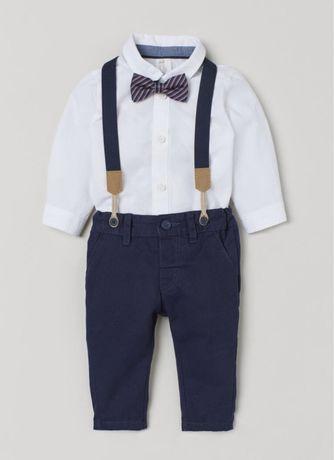 Komplet koszula spodnie chinos H&M