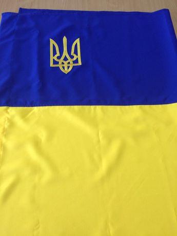 Прапор України і прапор УПА з міцної плащовки двухсторонній для вулиці