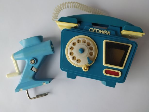 Игрушки советские Телефон Огонек Мясорубка игрушки ссср