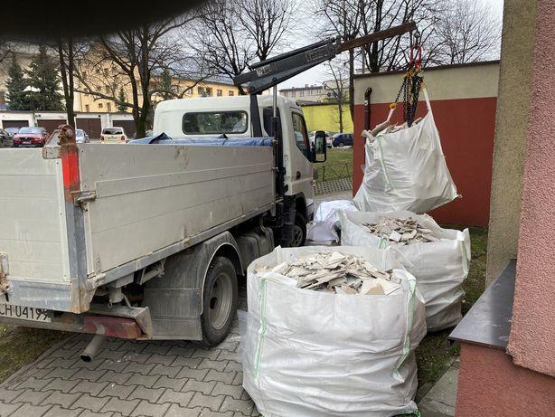 Wywóz Gruzu w Workach Big Bag Duże Worki Utylizacja