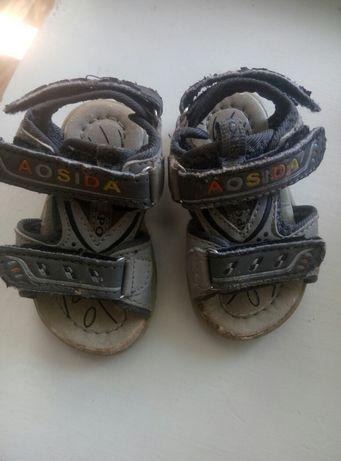 Босоножки, сандали на мальчика 14 размер + подарок
