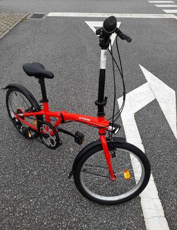 Bicicleta dobrável vermelha, NOVA