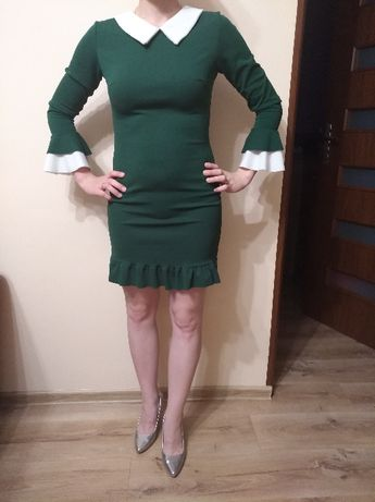 Ciemnozielona sukienka , roz. S.