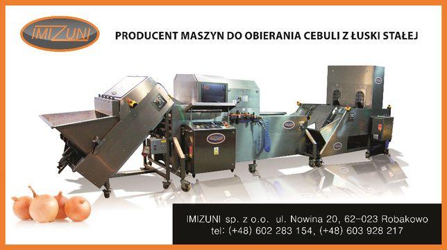 Maszyna do obierania cebuli, obieraczka do cebuli, linia do obierania