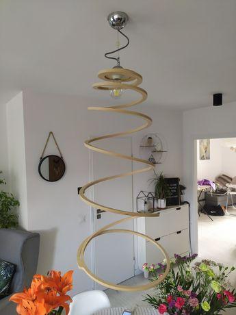 Lampa żyrandol drewniany boho