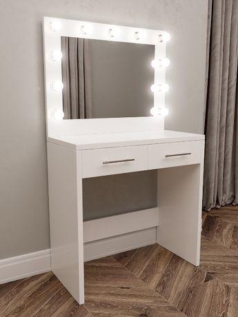Гримерный стол, столик визажиста, туалетный столик с подсветкой лампы