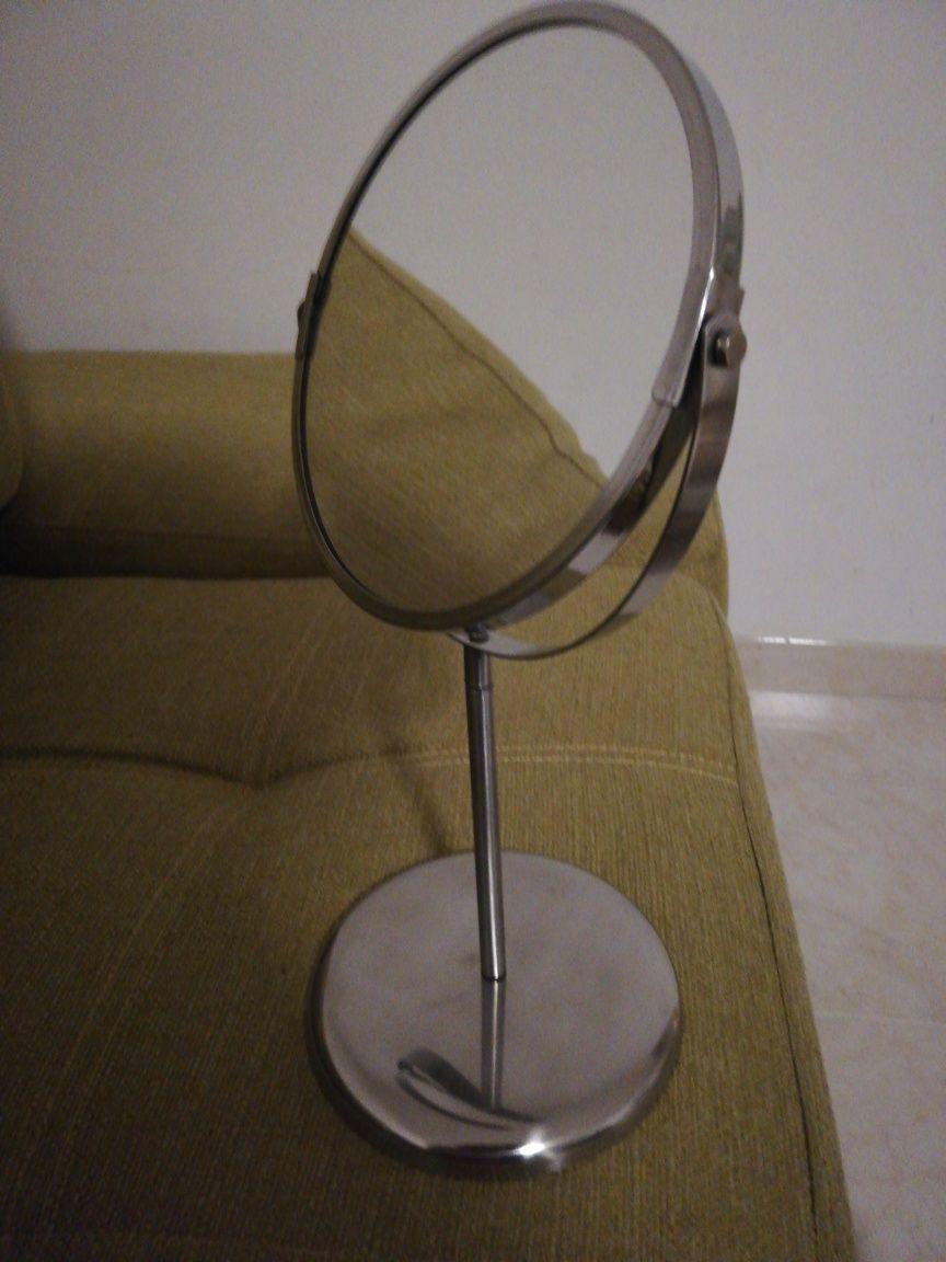Espelho de mesa cromado