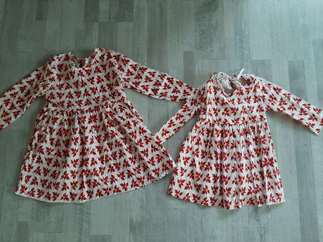 Sukienki świąteczne 98 i 110 wysyłka 1zl