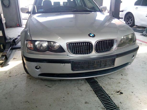 Kompletny przód BMW E46 titansilber