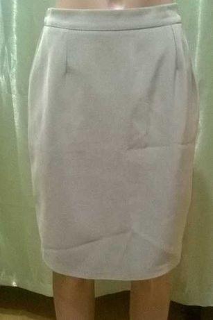 Серая деловая юбка 181