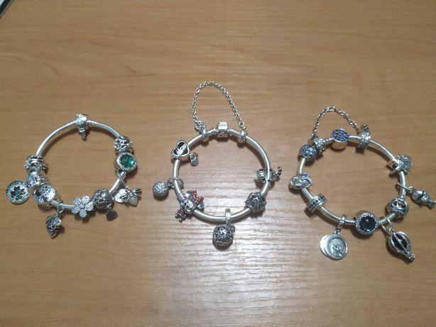 Шармы, браслеты Pandora s925