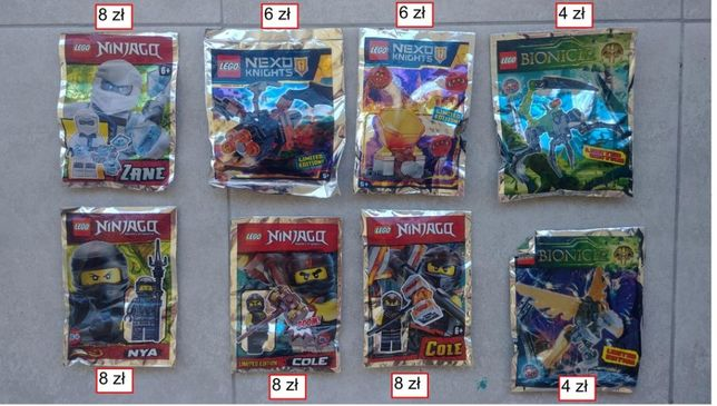 LEGO , Bionicle, Nexo saszetki, saszetka, polybag