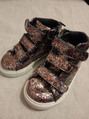 Buty dziewczęce brokatowe