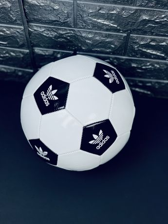 Футбольный Мяч Adidas Nike Размер 5 Кожаный оригинальный мячик