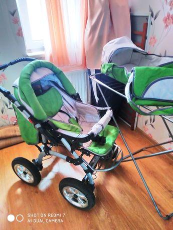Коляска дитяча універсальна 2 в 1 трансформер в комплекті, гарний стан
