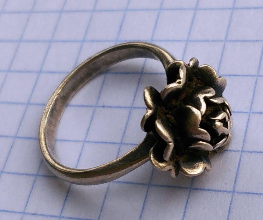 Серебро СССР колечко 875 проба кольцо Дубечно - изображение 1