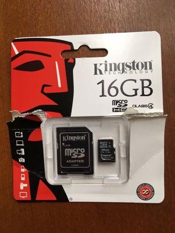 Карта пам'яті Kingston 16 gb бу