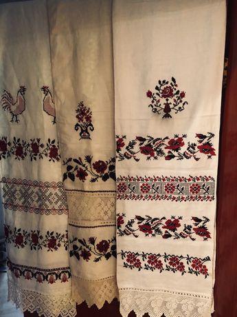 Традиционный украинский рушник, конопляное полотно, старинное состояни