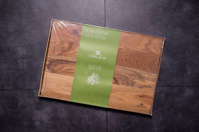 Deska Dębowa Szefa Kuchni 45x30 cm Gerlach Natur Nk320 (NOWA)