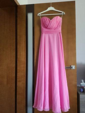 Długa suknia - pudrowy róż