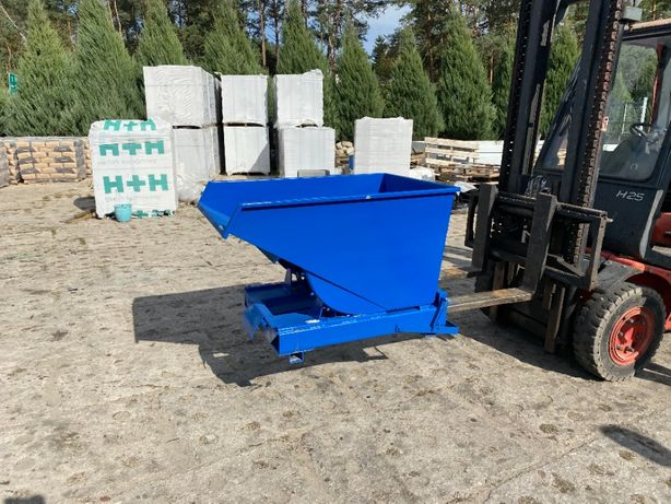 Pojemnik pod CNC 300 l 0,3 m3 wióry odpady od ręki