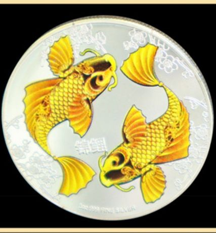 Монета сувенирная рыба Тай священный карп фен шуй Елизавета