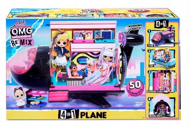 L.O.L SUPRISE O.M.G. Plane Samolot 4W1 Remix