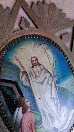 Хоругвь Икона в навершие Керамика Бронза