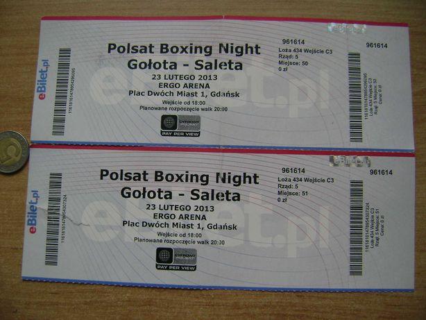 Starocie z PRL Bilet na walkę Gołota - Saleta 23.02.2013 w ERGO ARENA