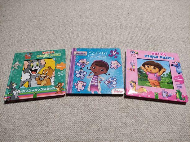 Książki układanki puzzle Dosia Tom i Jerry