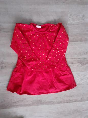 Sukienka r. 92 długi rękaw bawełniana
