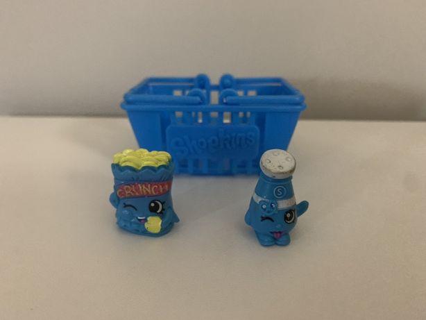 Shopkins - 2 figurki + koszyk na zakupy