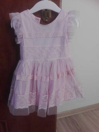 Sukienka dziecięca z koronki 80