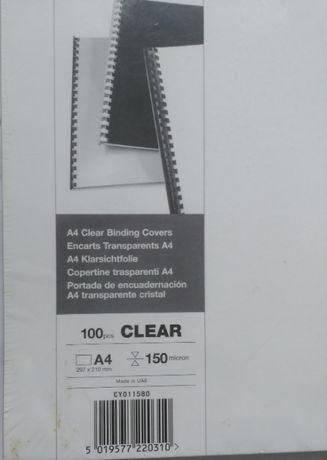 Обложки пластиковые А4 150 мкм (100 штук) 1пачка