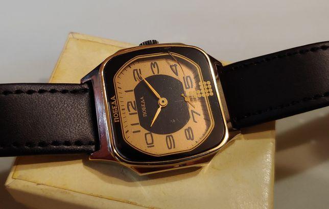 """Новые!!Редкие часы """"Победа"""" в корпусе золотого цвета механика ссср."""