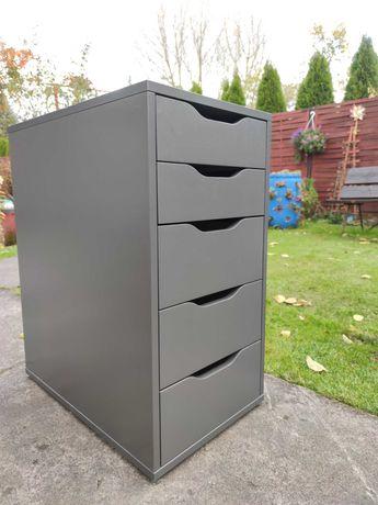 Ikea Alex szara komoda z szufladami kontener kontenerek 5 szuflad