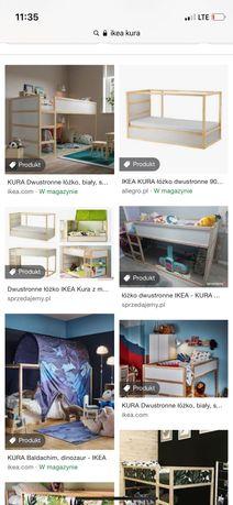 Łóżko Kura Ikea Nowe